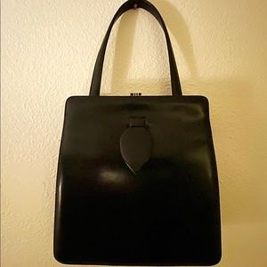 MCM Black 1950s Handbag Purse Designer Pin Up VLV